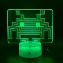 цена на Game PAC MAN Led Night Light Birthday Gift for Kid Bedroom Home Decoration Baby Nightlight Touch Sensor Usb 3d Night Lamp Pacman