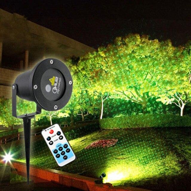 Gut 1X Dynamische Grüne Laser Wirkung Weihnachten Projektor Wasserdicht  Landschaft Garten Hinterhof Pool Baum Projektionslampe Star Projektor