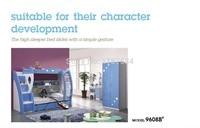 9608B современная детская домашняя спальная мебель детская кровать детская двухъярусная кровать деревянная детская двухэтажный кровать