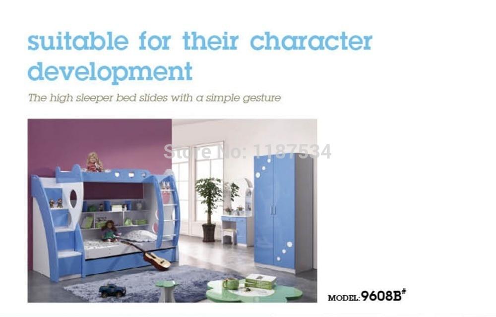 9608B Modern children home bedroom furniture children bed children bunk bed wooden children double-decker bed itr9608 9608 dip 4