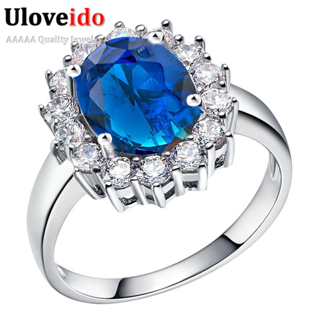 5 off uk queen kate bridal rings for women titanic heart blue redpurple - Purple Diamond Wedding Ring