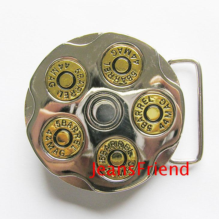 5barrel 44mag Bullet Spinner Belt Buckle Arts,crafts & Sewing Apparel Sewing & Fabric