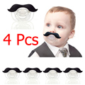 4pcs/lot Baby Mustache Pacifier Dummy Nipple Teethers Orthodontic Silicone Funny Infant Baby Soother Teeth Tools Pacifiers Care