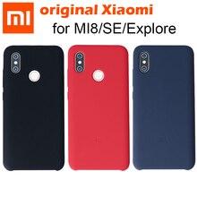 100% Original Xiao mi mi 8 Explorer Edition อย่างเป็นทางการ mi 8 กรณีซิลิโคน Snapdragon 845/710 mi 8se mi 8 ลายนิ้วมือ mi 8 Pro