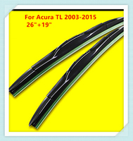 3 Section Rubber Windscreen Wipers For Acura TL 2003 2004 2005 2006 2007 2008 2009 2010