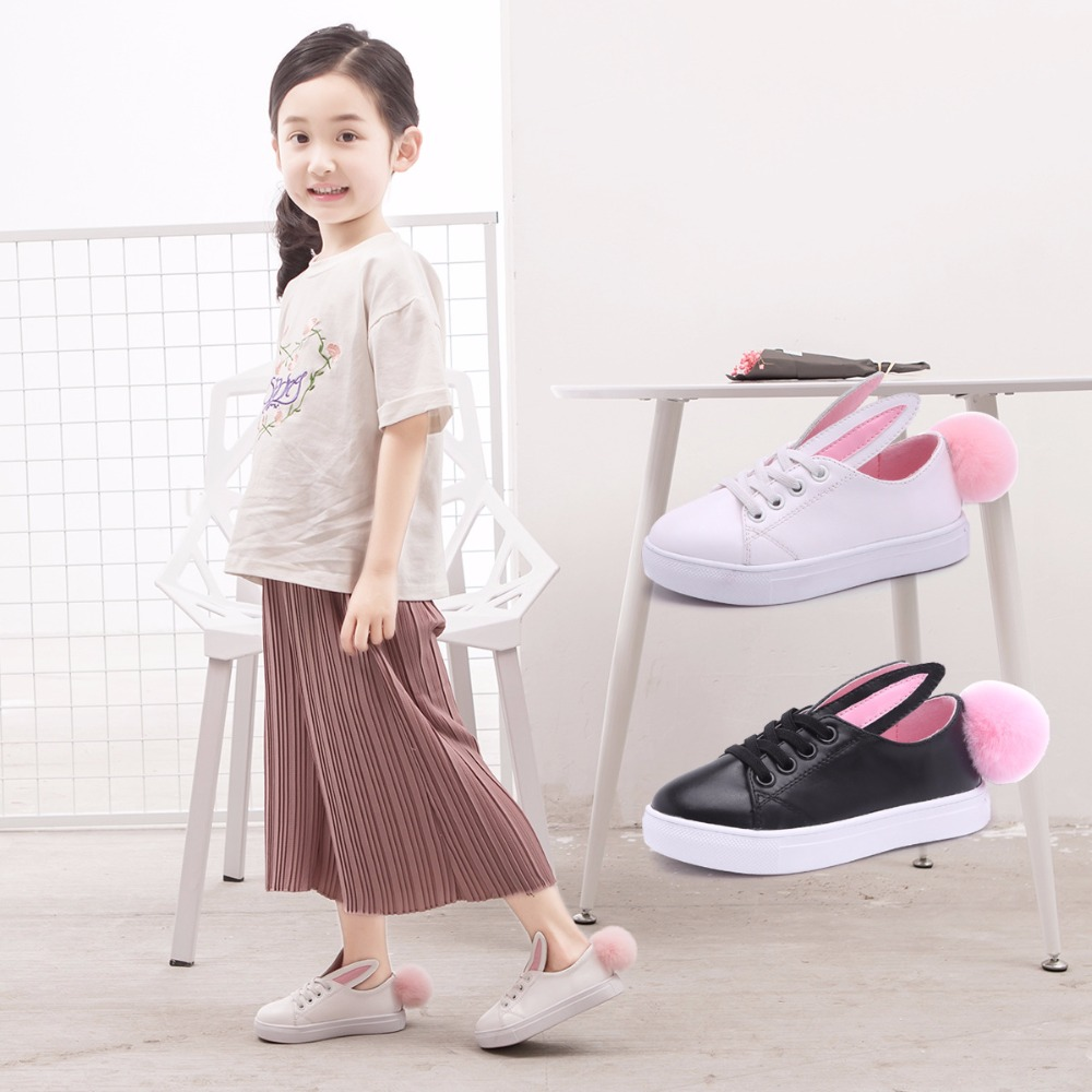 CCTWINS-KIDS-2017-Toddler-Fashion-Leather-Sport-Shoe-Children-Black-Breathable-Sneaker-Baby-Girl-White-Bunny-Flat-F1689-1