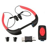 Original Summer 100 4GB 8GB Waterproof Sports MP3 Music Player Underwater IP68 Neckband Swimming Diving With