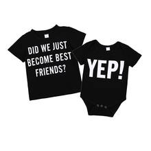 a3613b88 Brothers Matching Baby Boy Bodysuit Tshirt Clothing Little Big Brother Cotton  T-shirt Bodysuits Best
