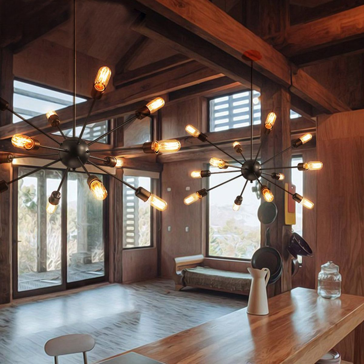 12Pcs E27 Bulb Vintage Ceiling Lights Lamps For Living Room ...