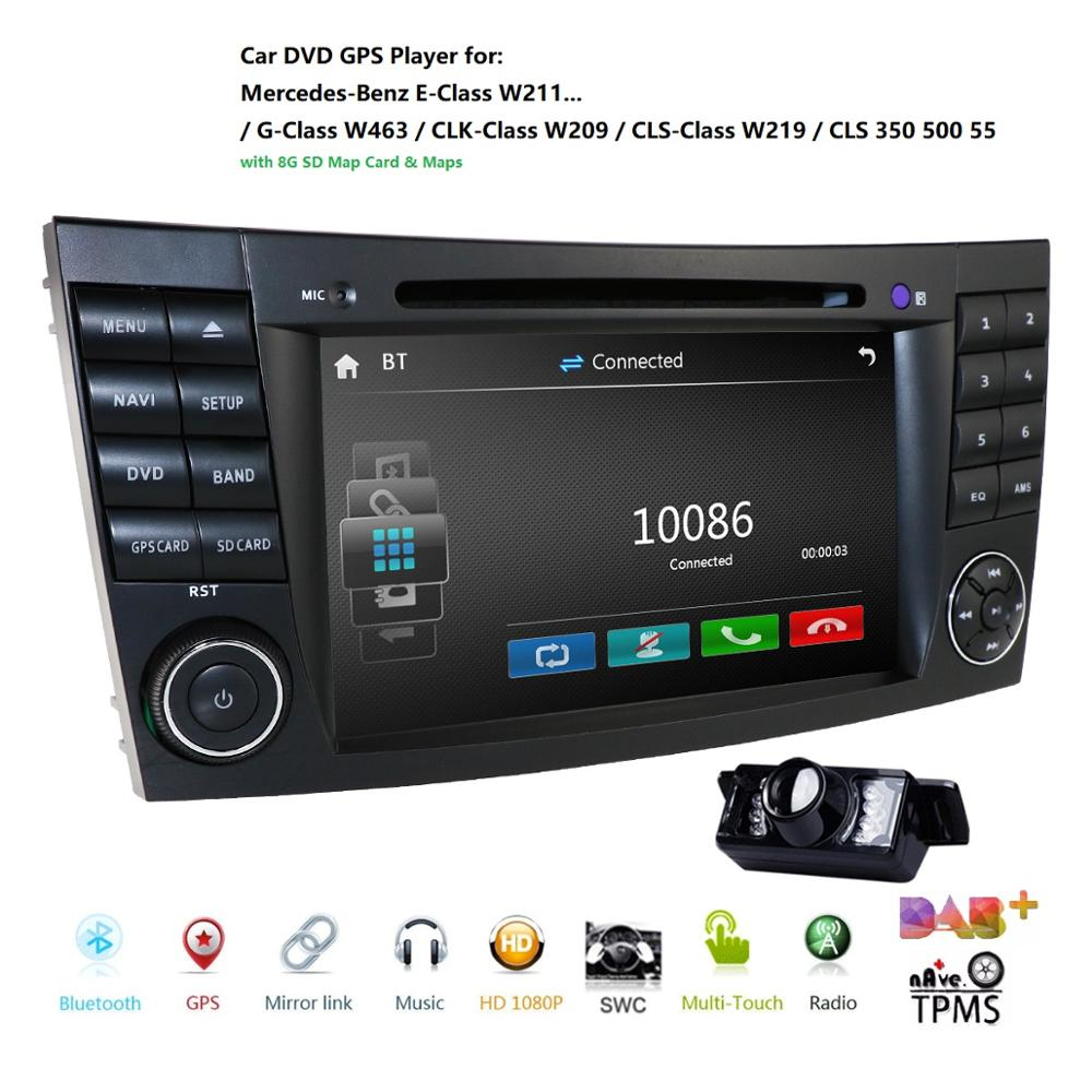 CAR <font><b>GPS</b></font> For <font><b>Mercedes</b></font> <font><b>W211</b></font> W219 W463 CLS350 CLS500 CLS55 E200 E220 E240 car dvd player multimedia monitor headunit moto radio cam image