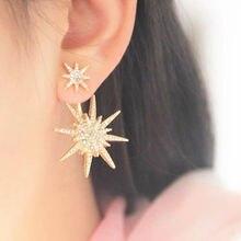 Double Star Snowflake Earrings