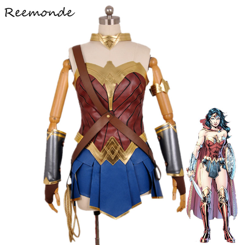 Movie Batman VS Superman Wonder Woman Cosplay Costume Justice League Superhero Princess Diana ...