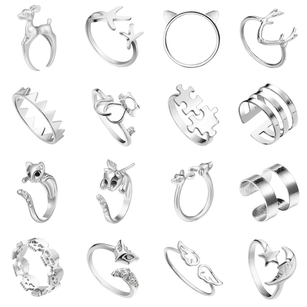 NRG Rings Stainless Steel Compression-Set Square Split Shank Ring with Clear CZ