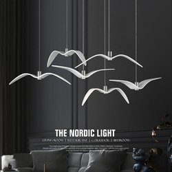 Resin Brokis Night Birds silhouette sky freedom bird Seagull pendant lamp