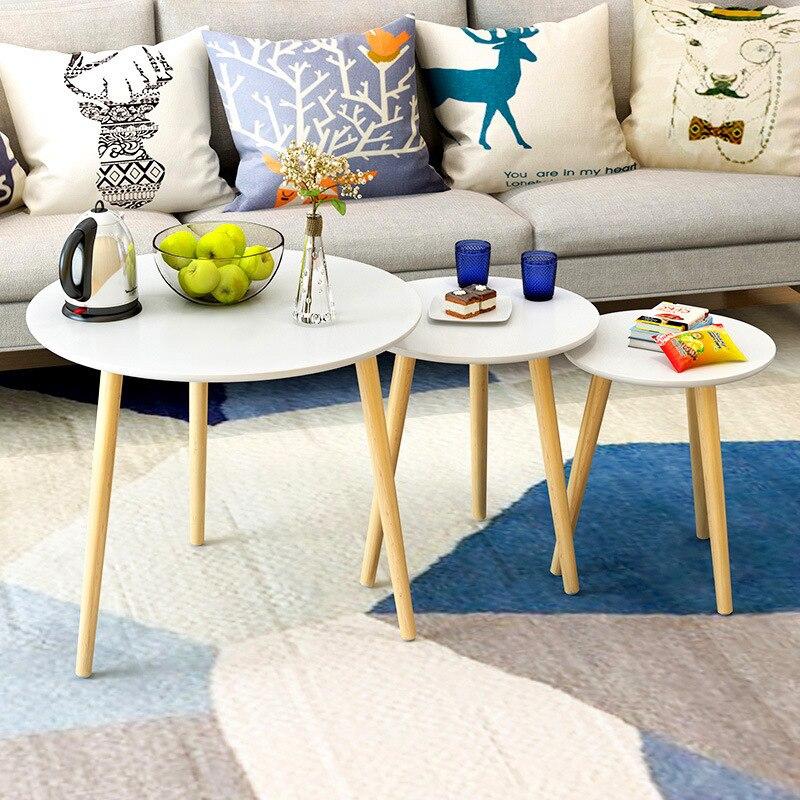 Декор Деревянная мебель продажа кварто табло для творческой Кофе Таблица Гостиная круглый Чай сбоку твердые деревянные столы весь Naonaou ...