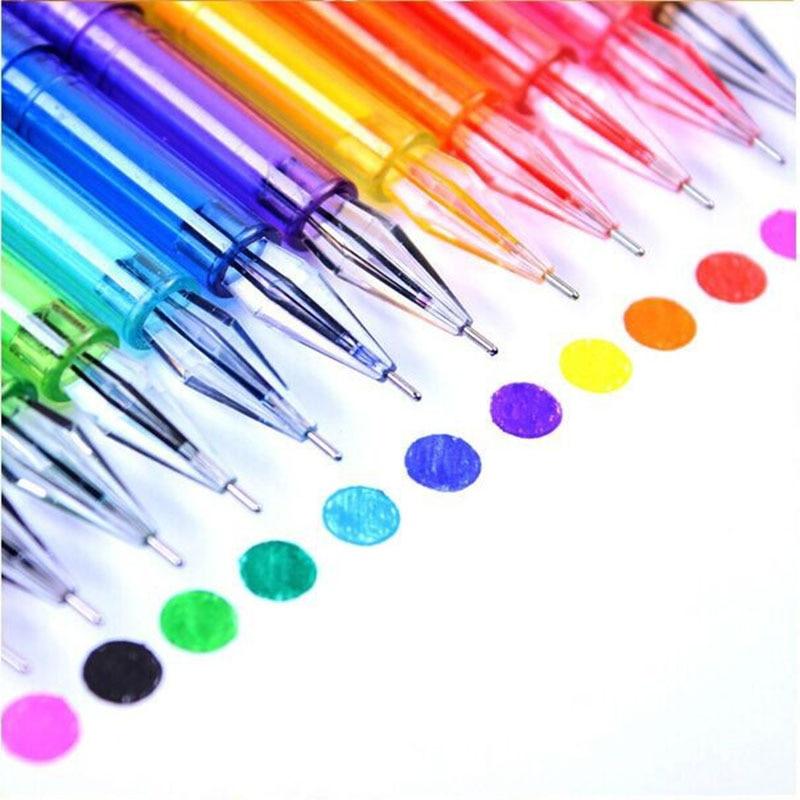 Beautiful Diamond Head 12 Candy Color Gelpen High Quality Color Pen School/Office Color Paintimg Mark Gel Pen Girl's Thin Gelpen