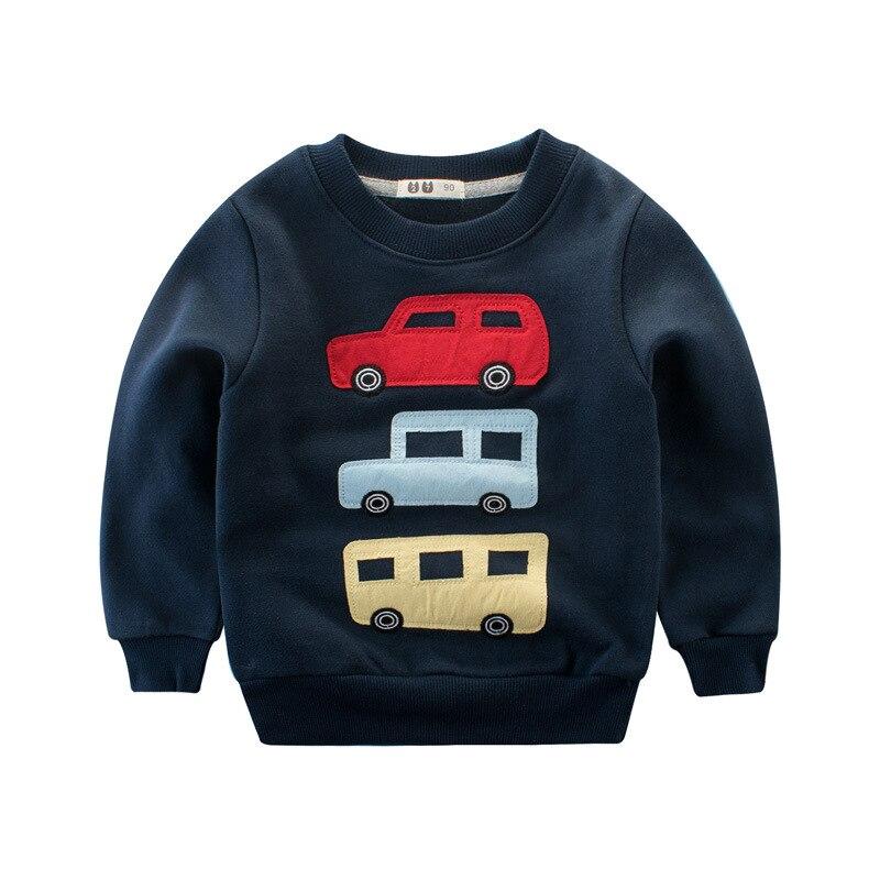 V-TREE Boys Clothing Cotton Boys T Shirt Sweatshirt Car Print T Shirt For Boy Kids Designer Baby Childrens Tops Tees Outwear