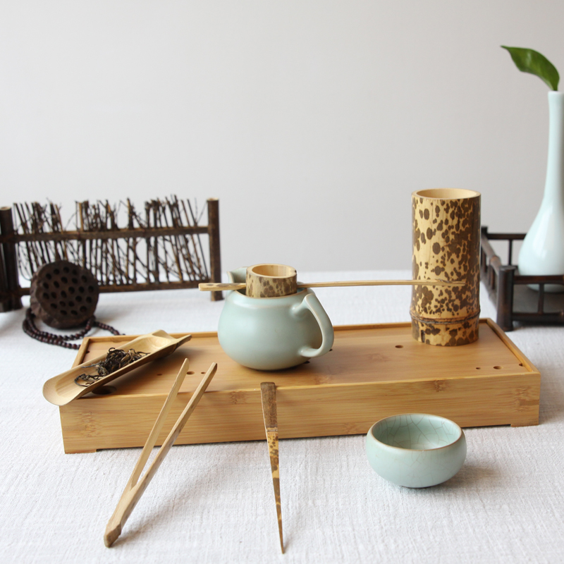 Natural Bamboo Tea Accessories Set 2