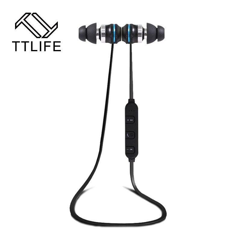 TTLIFE Brand Wireless Bluetooth Earphone BT-KDK03 Sports Headsets Magnetic In-ear Earbuds Dual Stereo Earphones with Mic ttlife bluetooth earphone