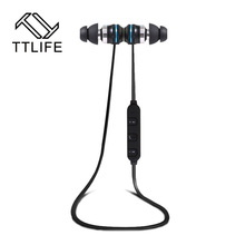 BT-KDK03 TTLIFE Marca Auricular Bluetooth Inalámbrico Deportes Auriculares Auriculares In-Ear Magnética Dual Estéreo de Auriculares con Micrófono