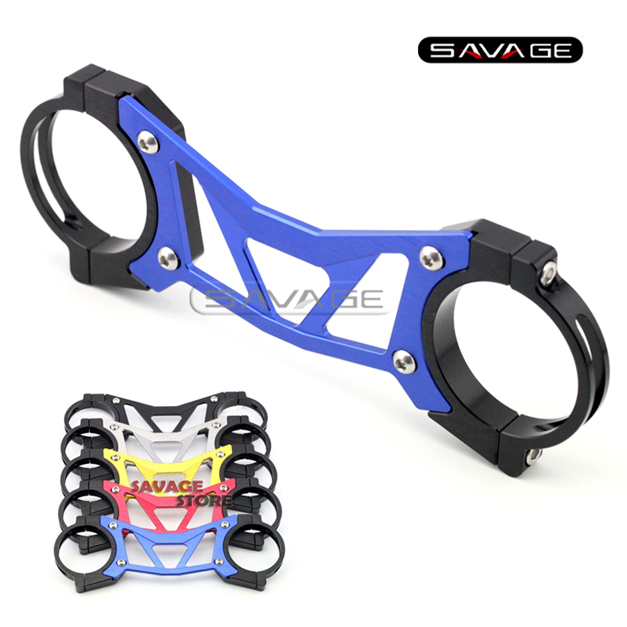 ФОТО For HONDA CB500X CB500F CBR500R 2013-2016 2014 2015 Blue BALANCE SHOCK FRONT FORK BRACE Motorcycle Accessories