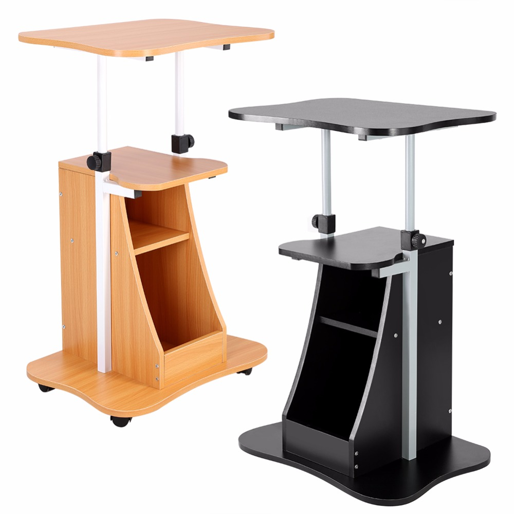 Laptop Cart Standing Notebook Stylish Desk Table Storage
