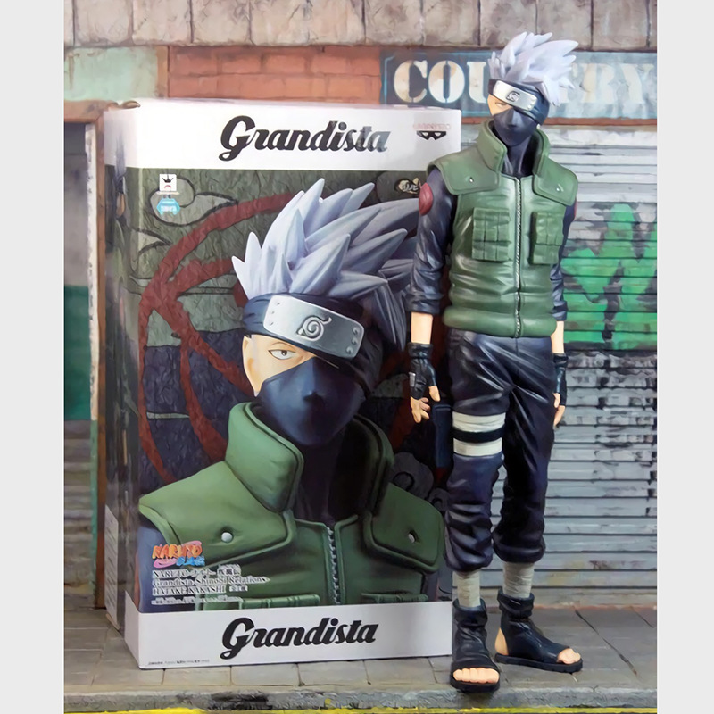 Japan Anime NARUTO Shippuden Grandista ROS HATAKE KAKASHI PVC Model Collection Figure Figurine Toy Doll naruto action figure hatake kakashi flash power rock scene diy set naruto shippuden hatake kakashi model toy kakashi diy180
