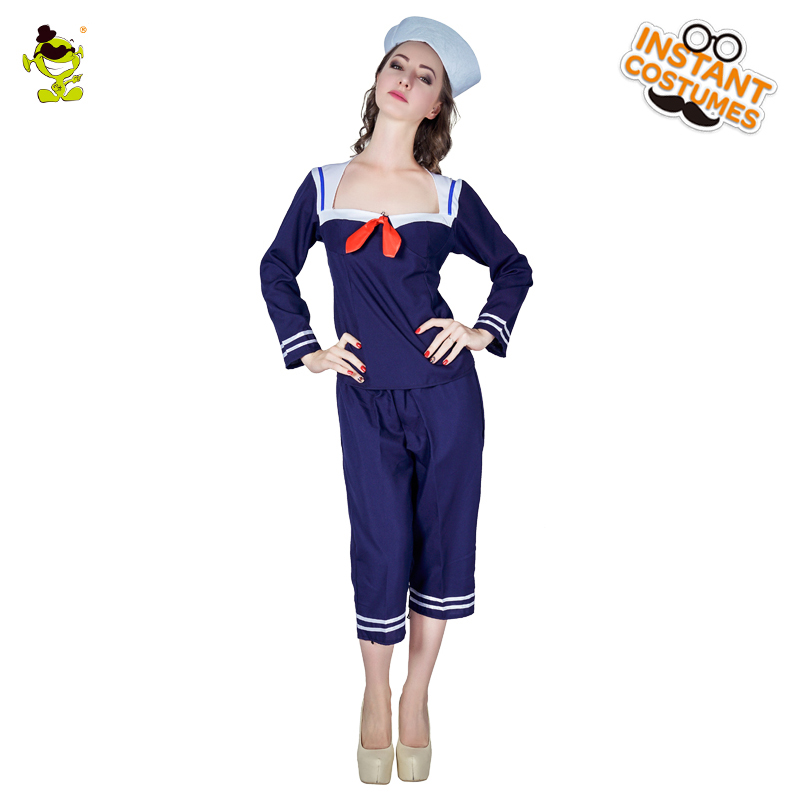 Adult Sailorette Costume Carnival Role Play Sexy Shipmate -5542