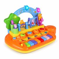 Baby Kids Toy Musical Piano Activity Cube Play Center with Lights Mulitfunctions & Skills Learning & Educational Christmas Toys