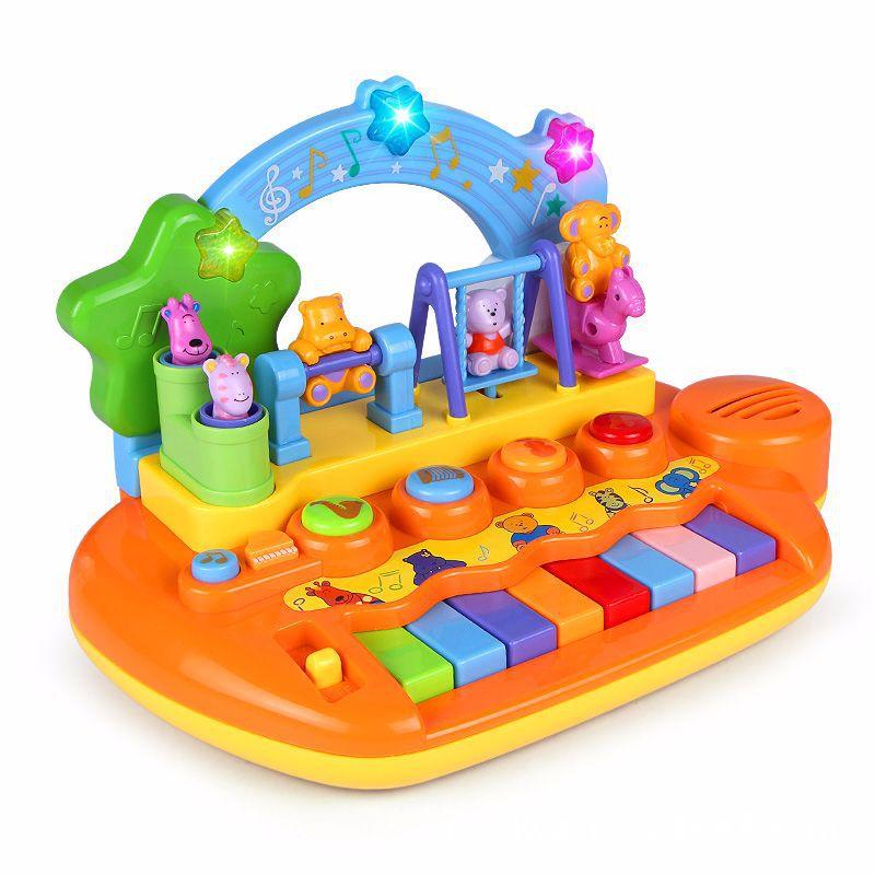 Bébé enfants jouet Musical Piano activité Cube Play Center avec lumières mulitfonctions et compétences apprentissage et jouets éducatifs de noël