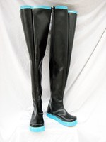 Vocaloid Miku Hatsune cosplay costume shoes/boots hand made