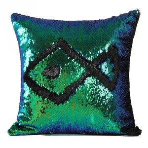 Image 5 - Sequin Pillow Cover Mermaid Sequin Cushion Cover Cushions For Sofas Decorative Cushion Covers Car Seat Cushion