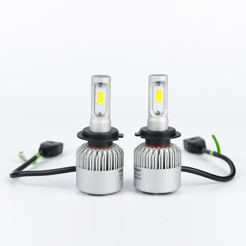 H7 COB LED Car Headlight Bulb Kit 72W 8000lm Auto Front Light H7 Fog Light Bulbs 6500K 12V 24V Led Automotive Headlamp