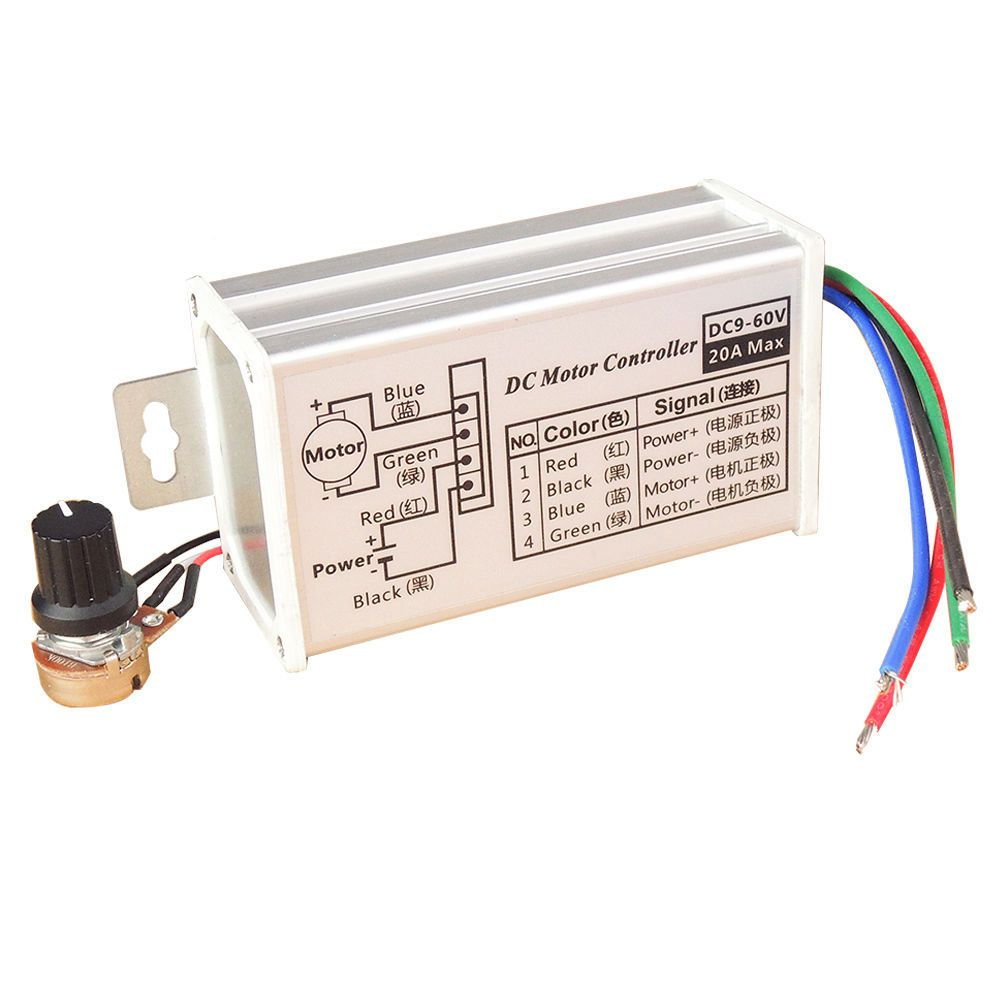12V 24V Max 20A PWM DC Motor Stepless Variable Speed Control Controller Switch panlongic hand twist grip hall throttle 100a 5000w reversible pwm dc motor speed controller 12v 24v 36v 48v soft start brake