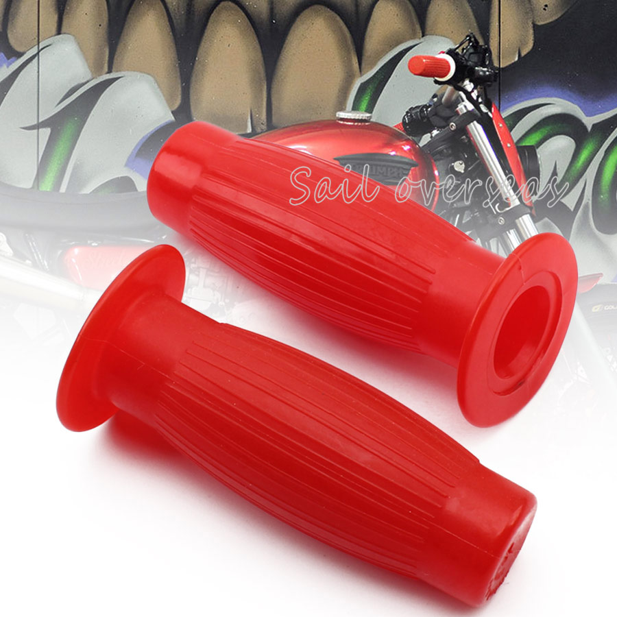 Old school Rubber handle bar grips in red.