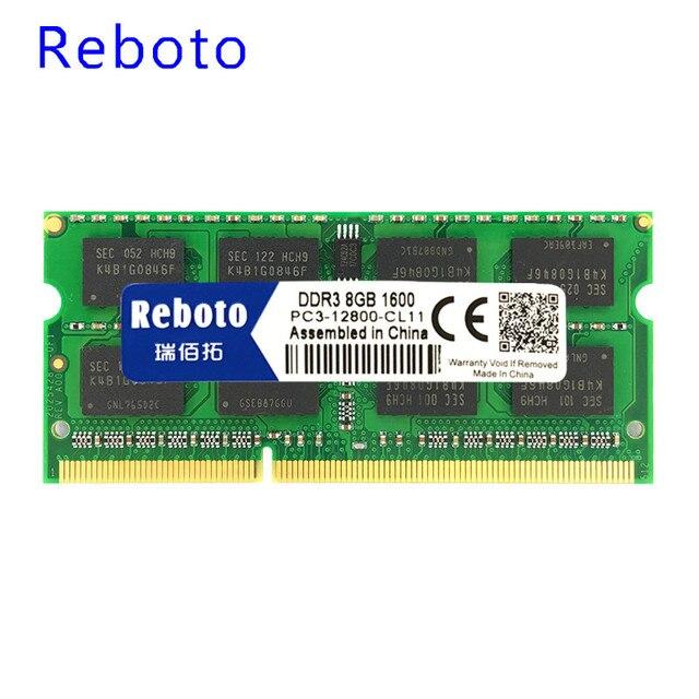 Reboto DDR3 1GB 2GB 4GB 8GB DDR31066mhz PC3-8500 1333mhz PC3-10600 1600mhz PC3-12800 Laptop Memory RAM stock