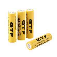 4 3.7V 18650 9800mah lithium-ion rechargeable batteries for LED flashlights for emergency lighting portable devices