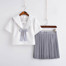 UPHYD  Japanese/Korean Student Suit Cute Girls/Women Cosplay Sailor Suit School Uniforms Clothing Navy Top+Skirts W32