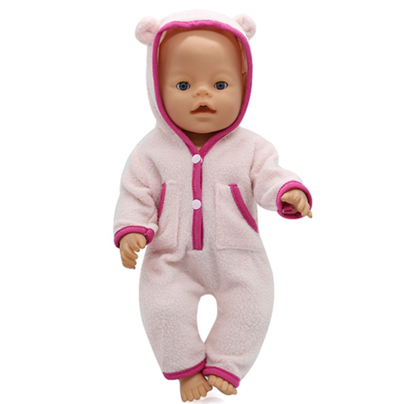 Baby Born Doll Clothes Fit for 43cm/18Inch Zapf Baby Born Doll Cute Jackets and Jumpers Rompers Doll Clothes