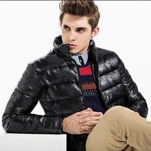 Отдых воротник утолщение развивать нравственность пуховик большие размеры теплый eiderdown верхняя одежда кожаная куртка