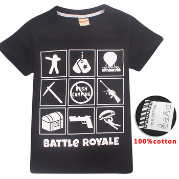 Fortnight Game T Shirt For Boy Girl T-shirts Teenage Kid Cotton Boutique Youth Tee Battle Royale Child Top Cloth Teen Big 8 12Y