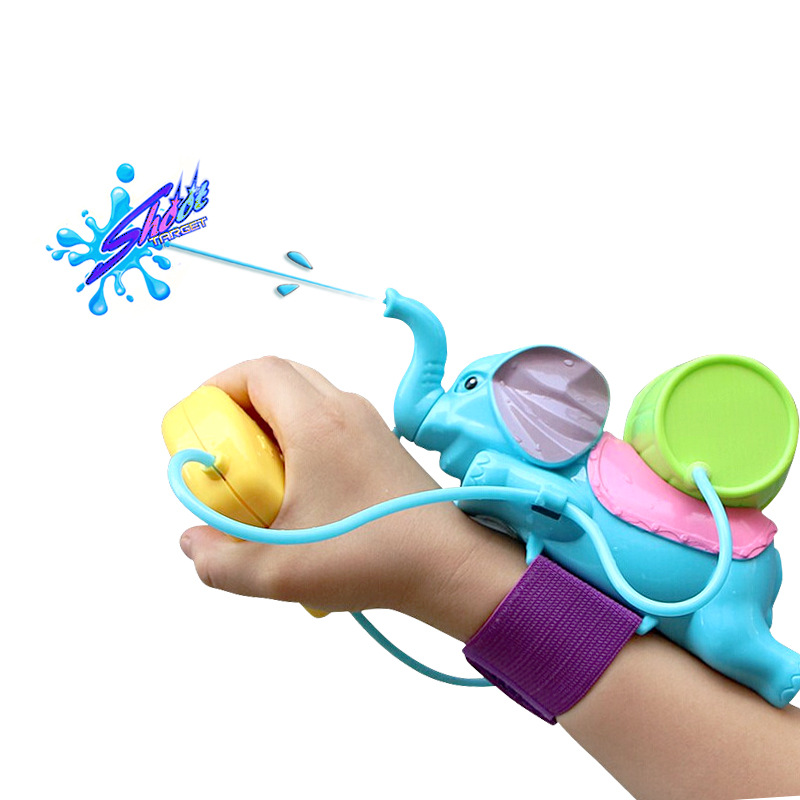 Cute Elephant Wrist Water Guns Toy Creative Portable Pools Toy For Kids Summer Swimming Playing Game Water Fun Tools