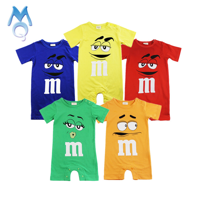 MQ 2017 Baby Rompers Newborn Baby Clothes Summer Short Sleeve Cotton Jumpsuit Cartoon Printed Overalls Baby Boy Girl Clothing 2016 hot baby rompers boys girls cartoon short sleeve baby rompers cotton newborn baby clothes jumpsuits clothing mama printed