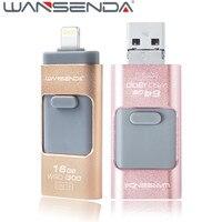 2pcs Lot Wansenda Usb 3 0 OTG Usb Flash Drive Lightning Pen Drive 16gb 32gb Pendrive