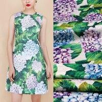 145cm width flowers jacquard dress fabric,The Hydrangea print thick jacquard fabric,children women dress polyester fabric