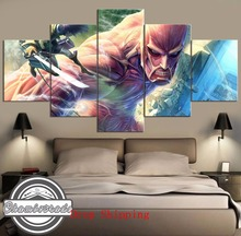 Frame 5 Pieces Modern HD Print Painting Canvas Artwork Attack on Titan on Canvas Wall Art for Home Decorations Wall Decor Art focal on wall frame iw 1003 rough