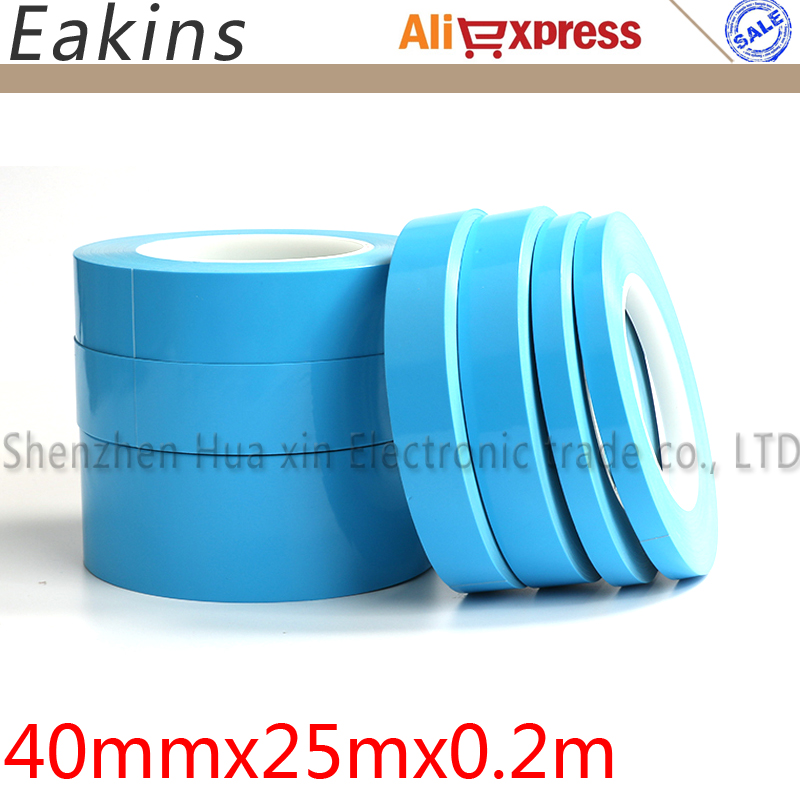 Free shipping New Products High Quality 40mm*25m Glass fiber Thermal double sided adhesive tape Thermal conductivity 1.0w/h.k
