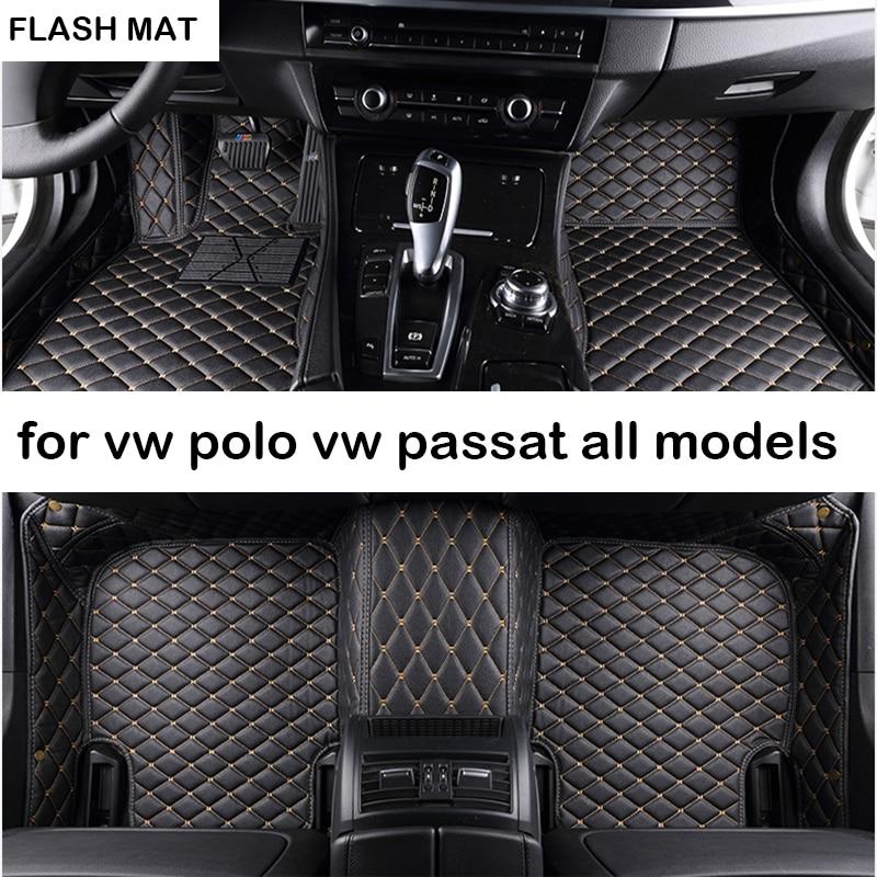 Tapis de sol de voiture pour vw polo accessoires vw passat b5 b6 golf vw touran tiguan jetta auto accessoires tapis de voiture