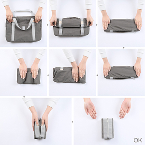 Image 4 - Дорожная сумка через плечо, большая Складная спортивная сумка для путешествий, кемпинга, портативная легкая багажная сумка, водонепроницаемая сумка для хранения
