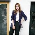 2017 Primavera Outono Novas Mulheres de Alta Qualidade da Marca Blazer Jaqueta Tira Coreano Moda Ternos de Negócio Blazer Feminino A3013